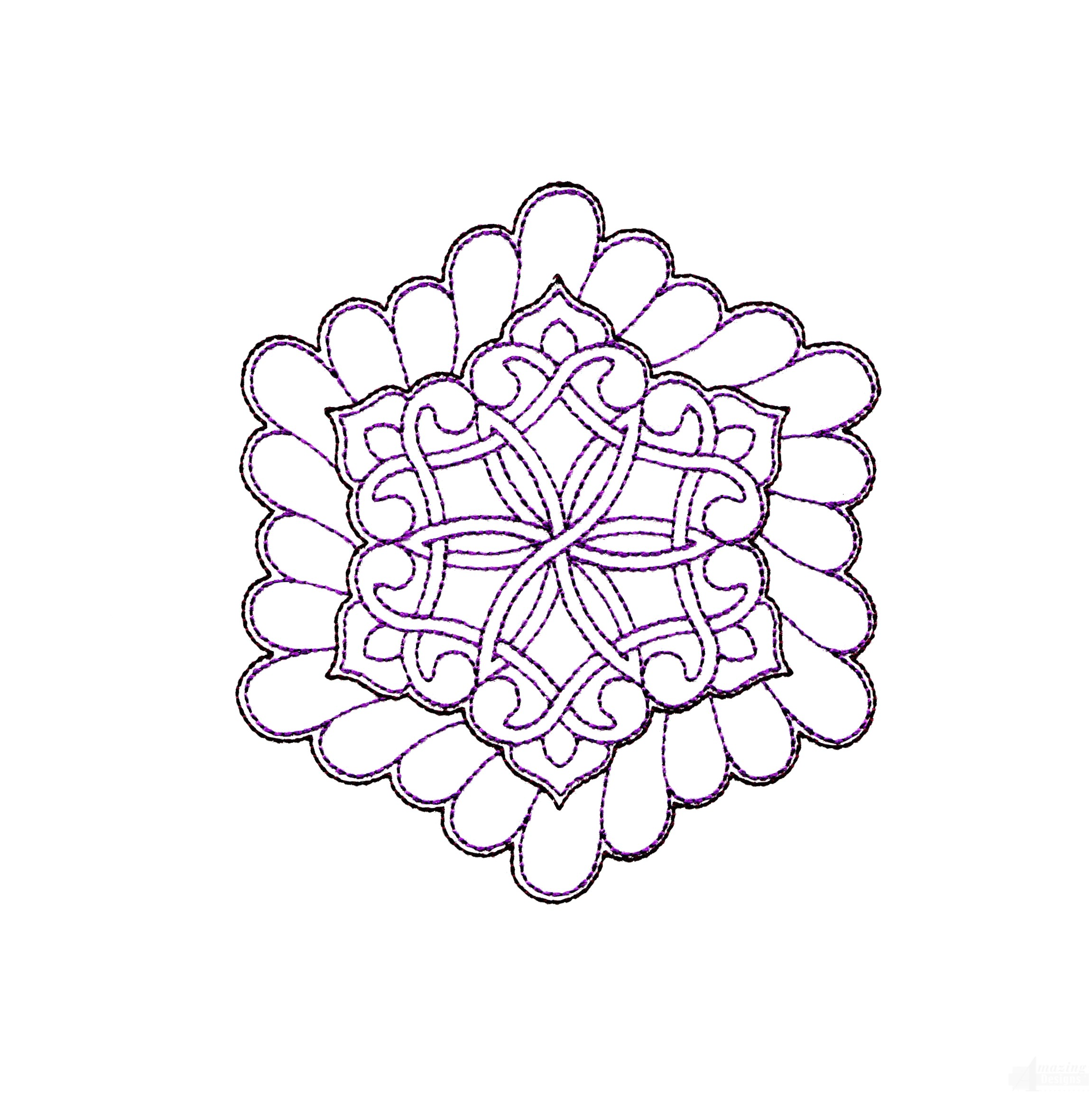 Rs124 Quilt Motif Embroidery Design