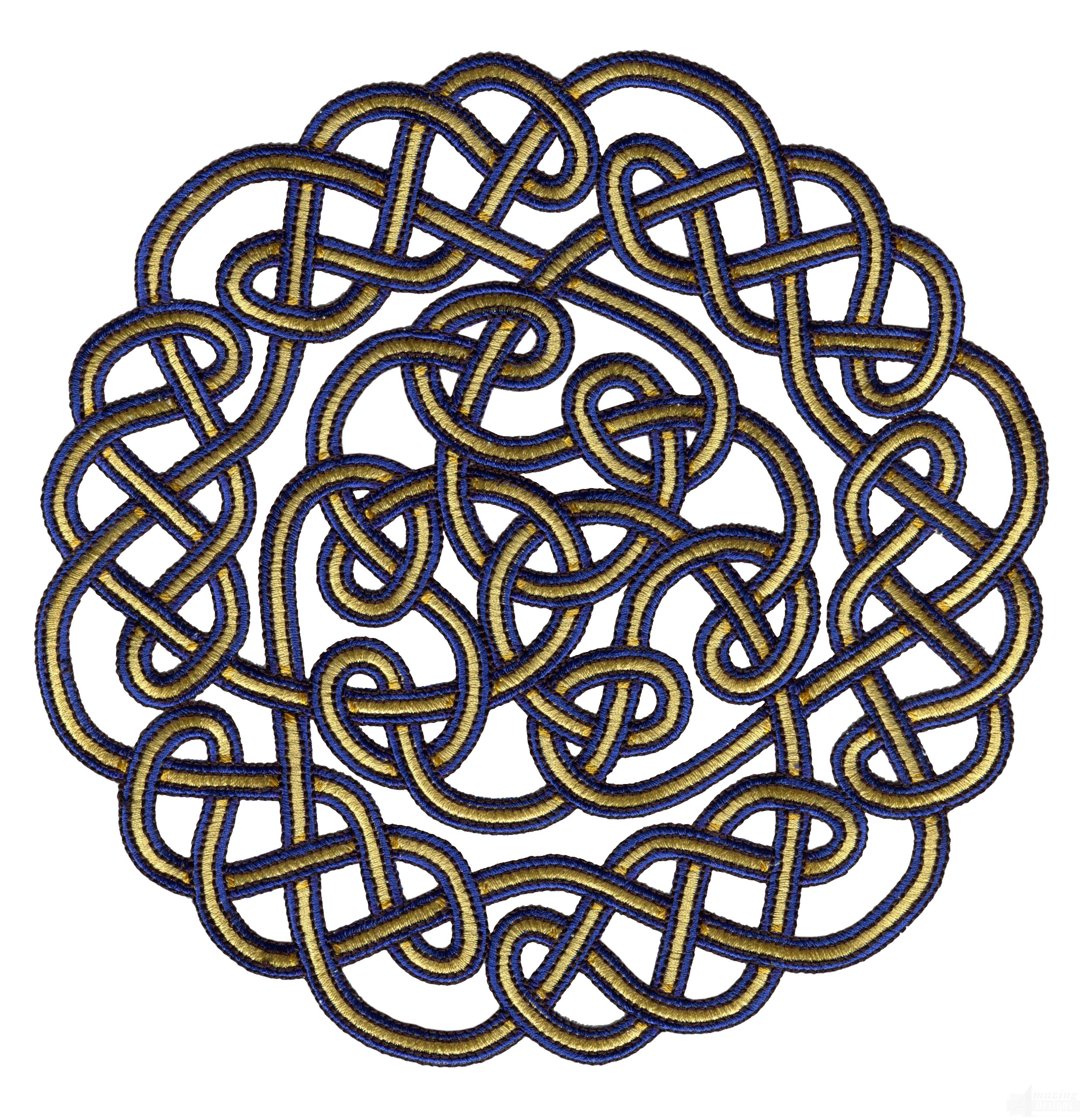Circle knot embroidery design