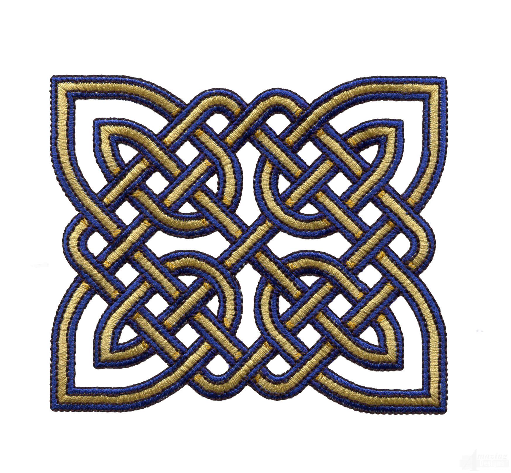 Rectangular Celtic Knot Embroidery Design