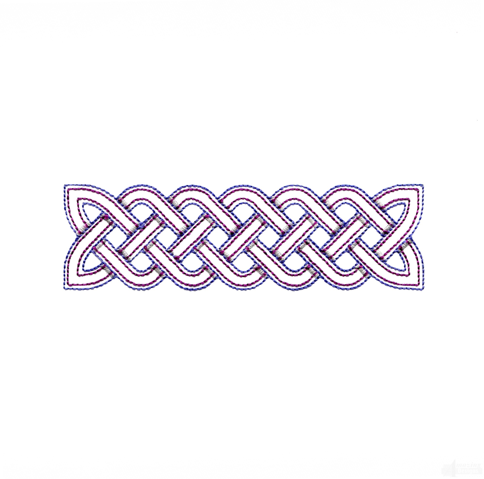 Outline Rectangle Celtic Knot Embroidery Design