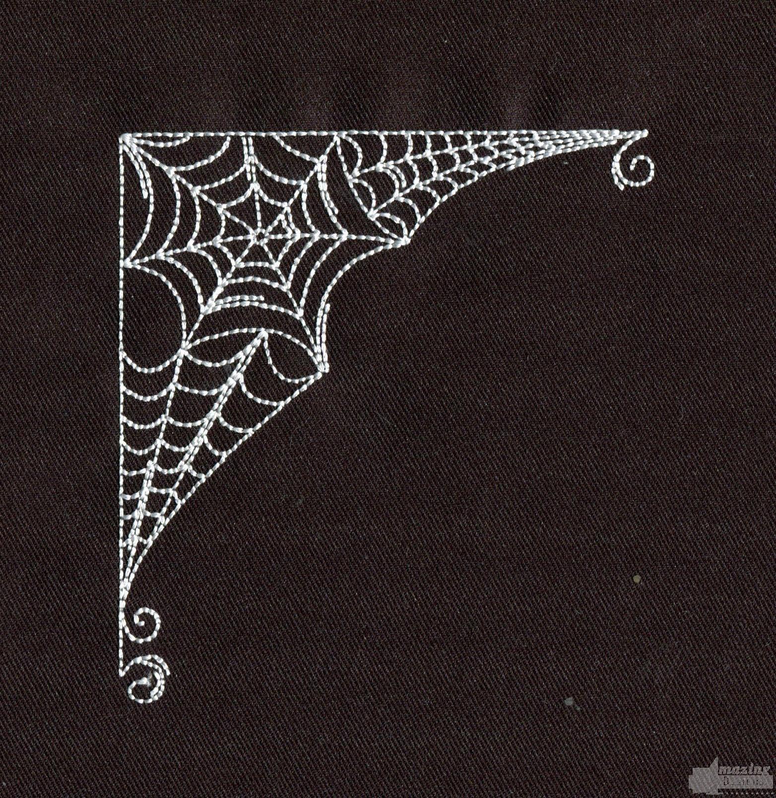 Corner spider web design - photo#7
