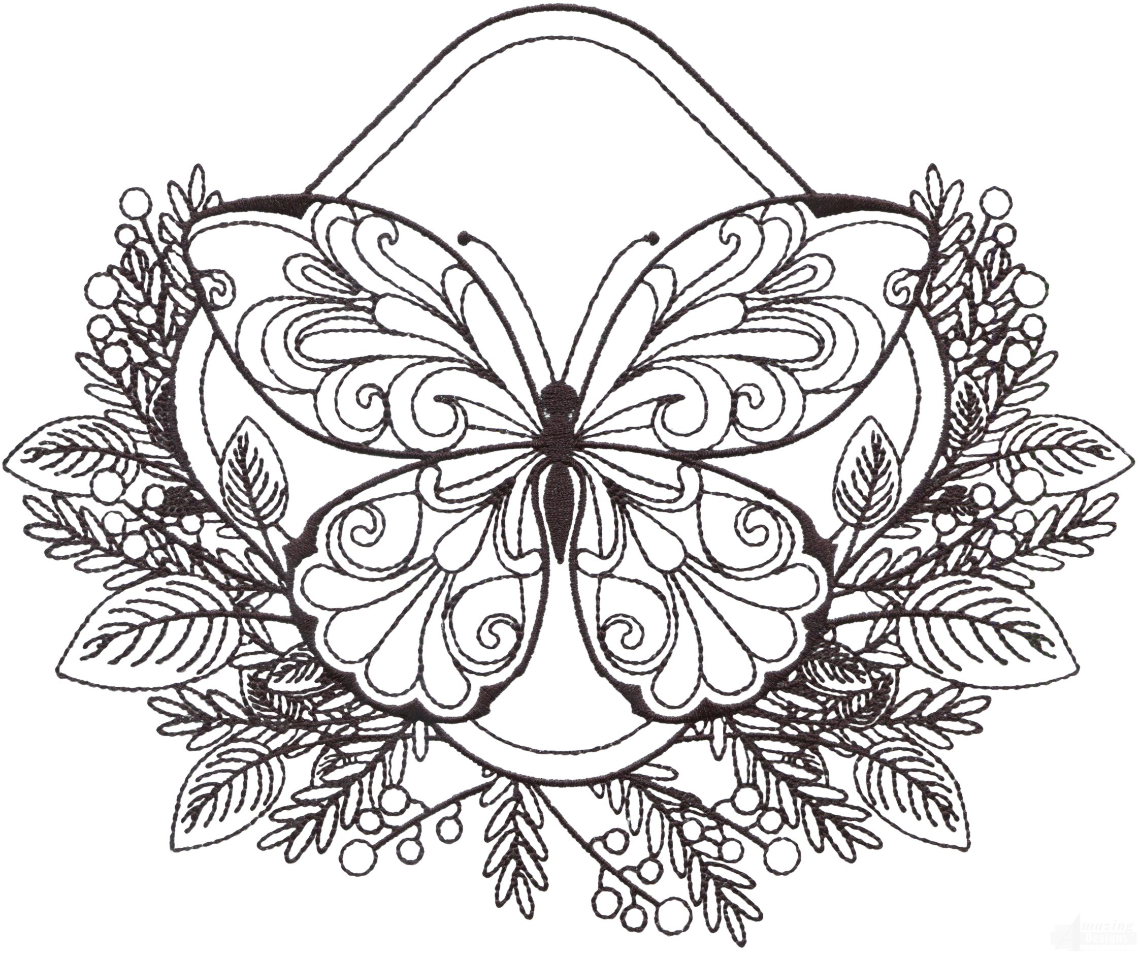 Zen Garden Sketches Embroidery Designs