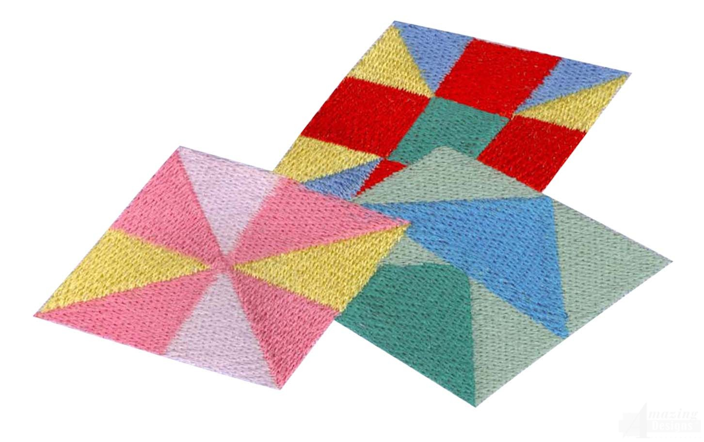 Embroidery Patterns For Quilt Squares : Quilt Squares Embroidery Design