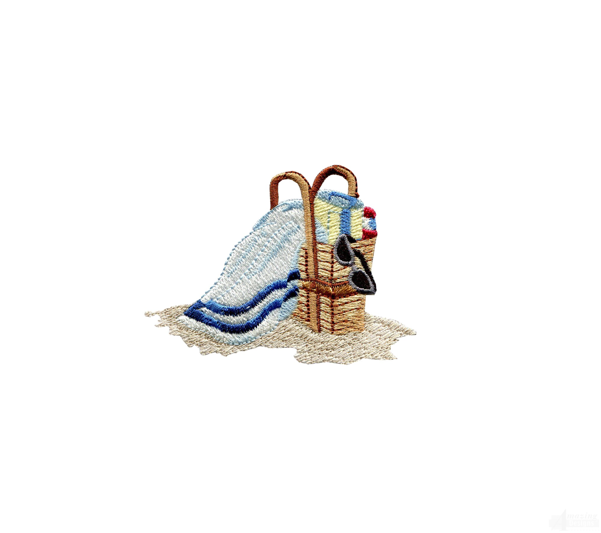 Swnse205 beach bag embroidery design for Beach house embroidery design