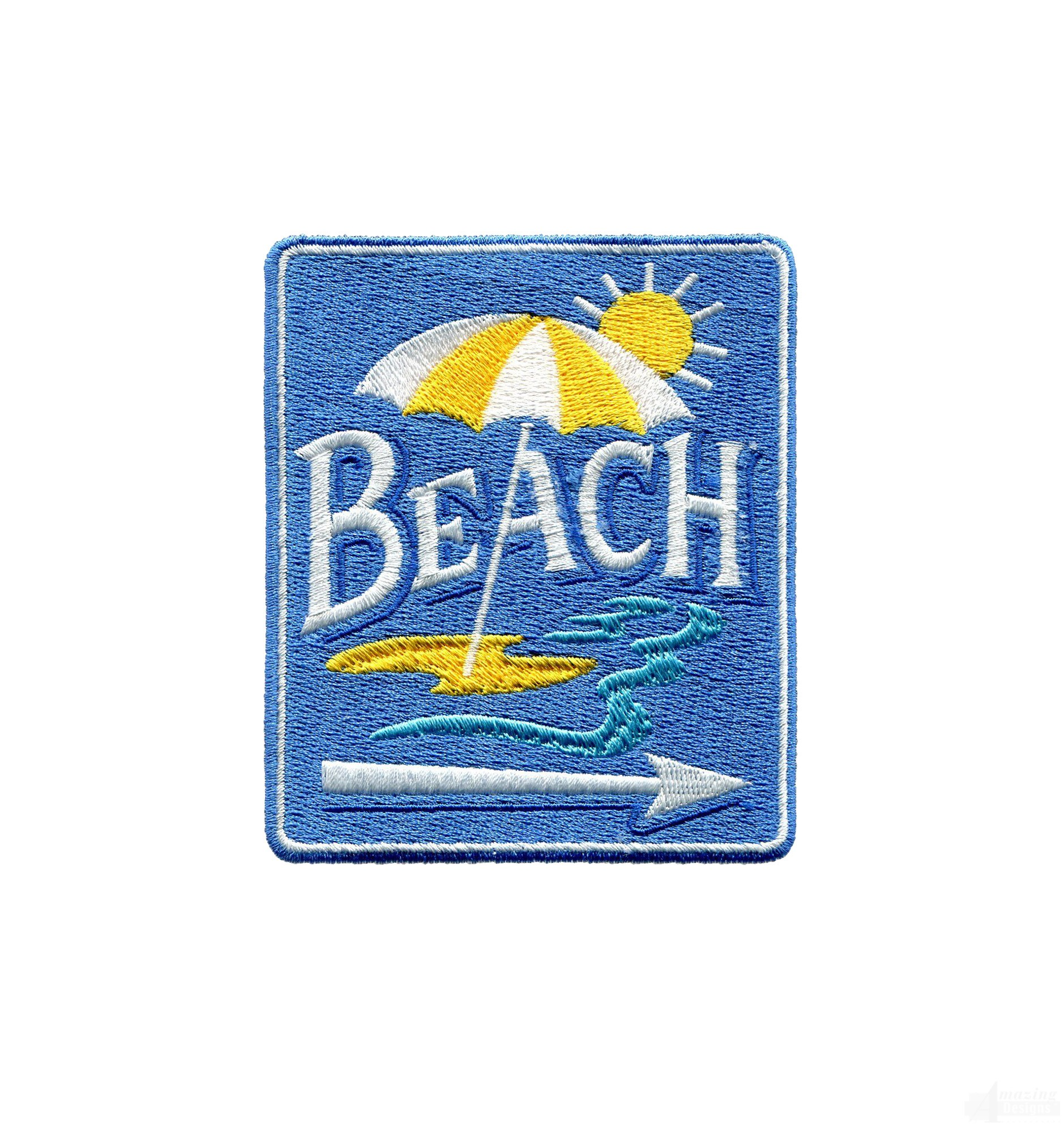 Swnse223 beach sign embroidery design for Beach house embroidery design
