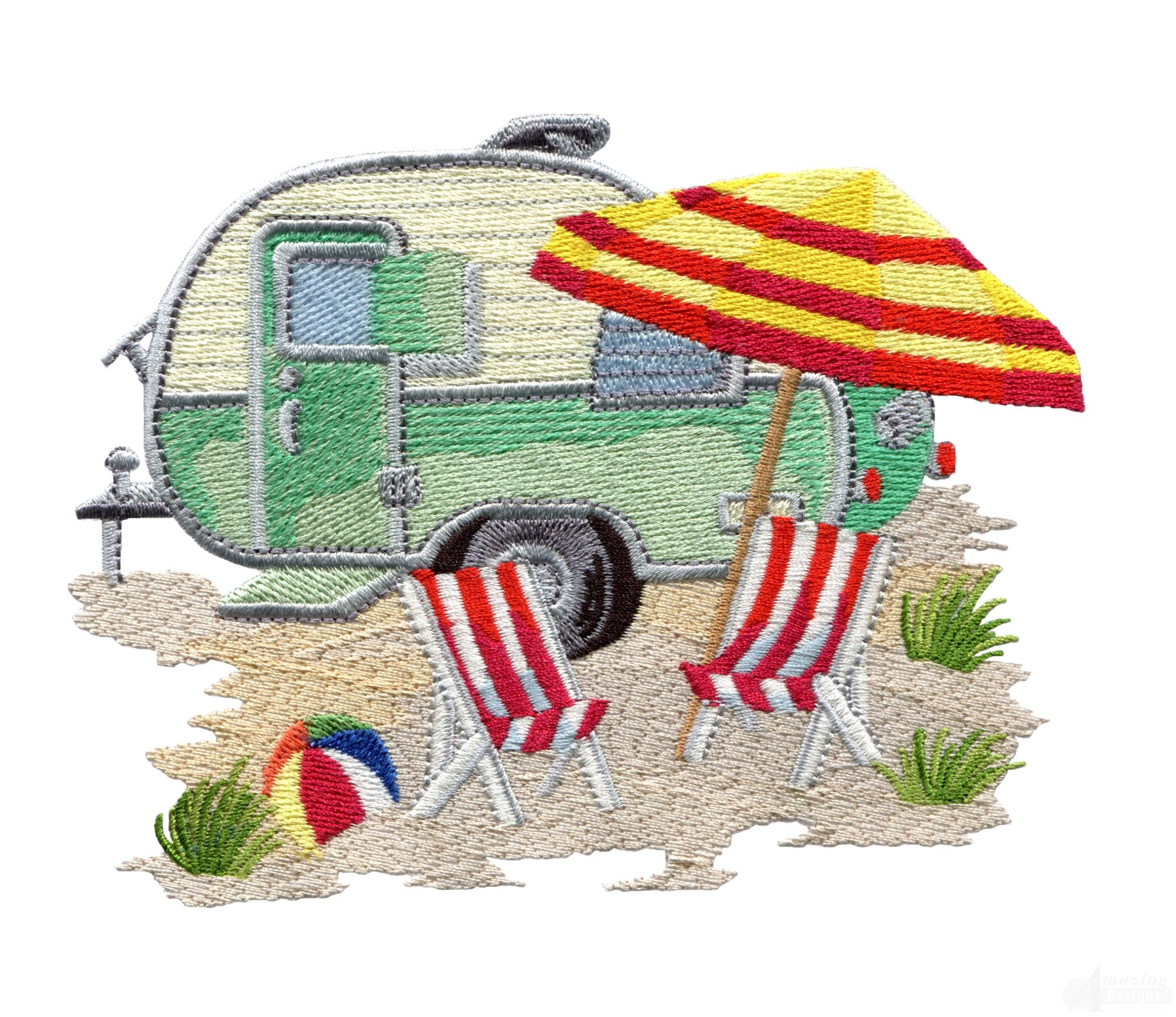 Cool Airstream Camper Trailer Embroidery Design Not All Who