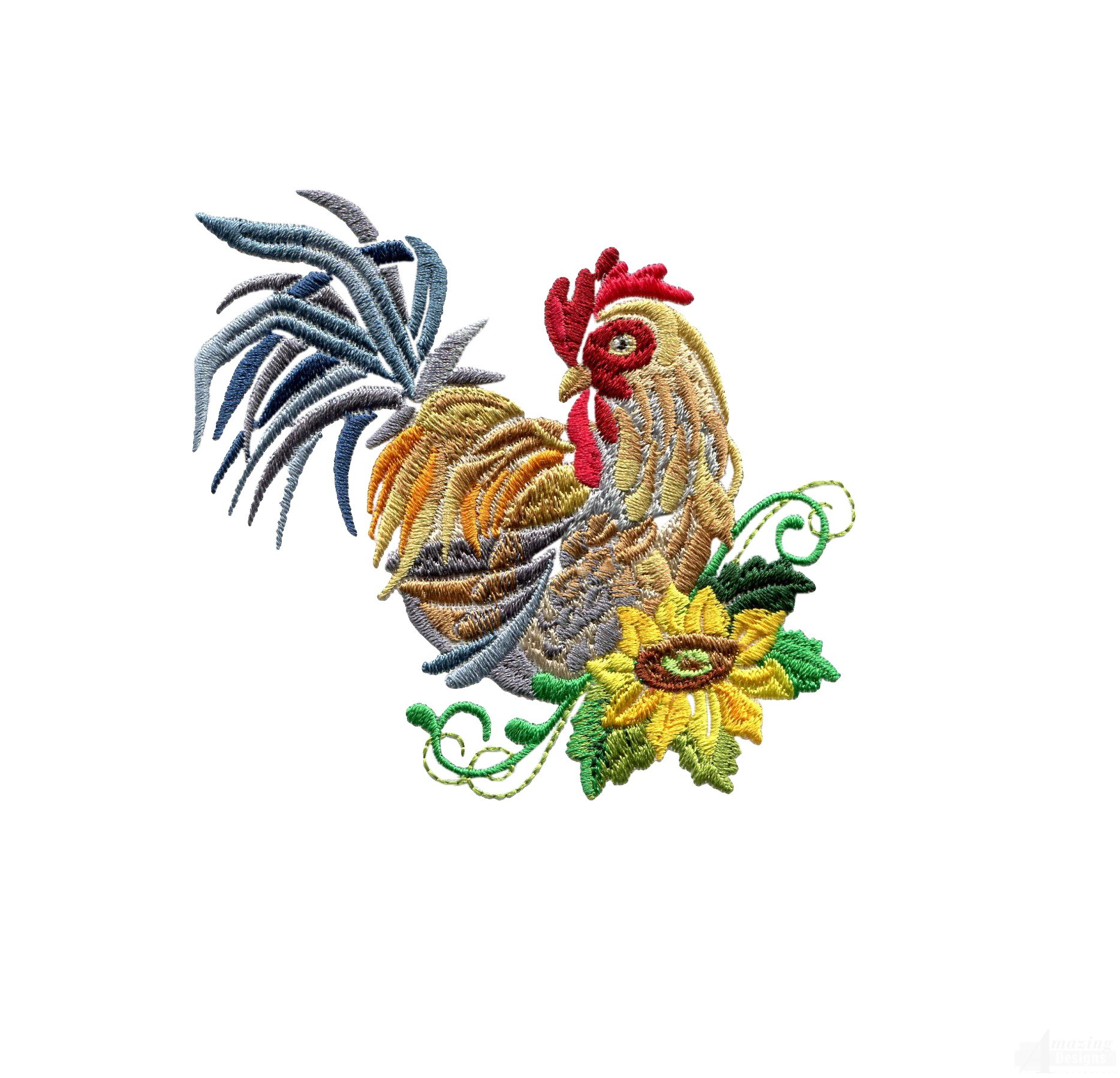 rooster machine embroidery designs