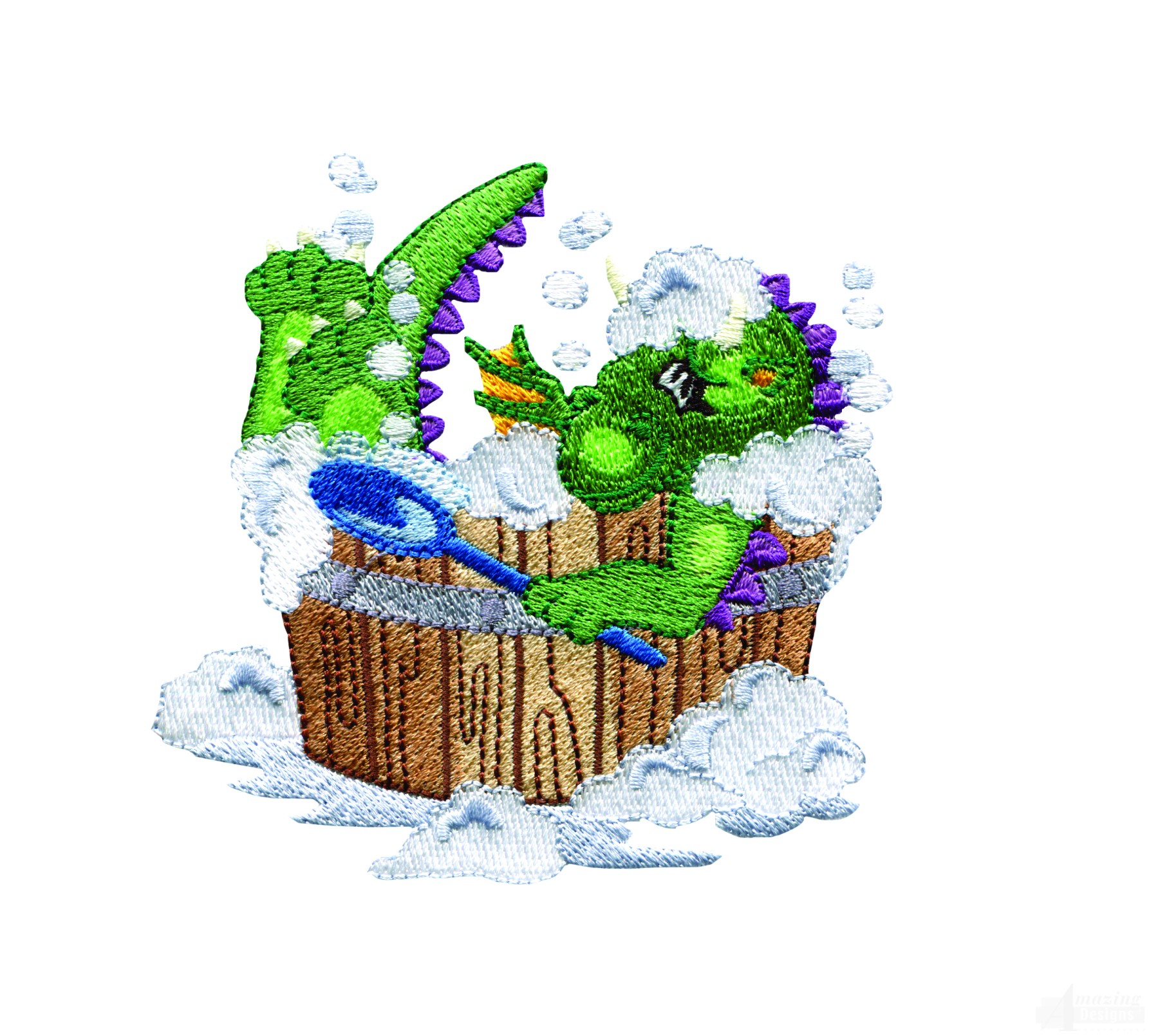 Bath time dragon embroidery design for Bathroom embroidery designs