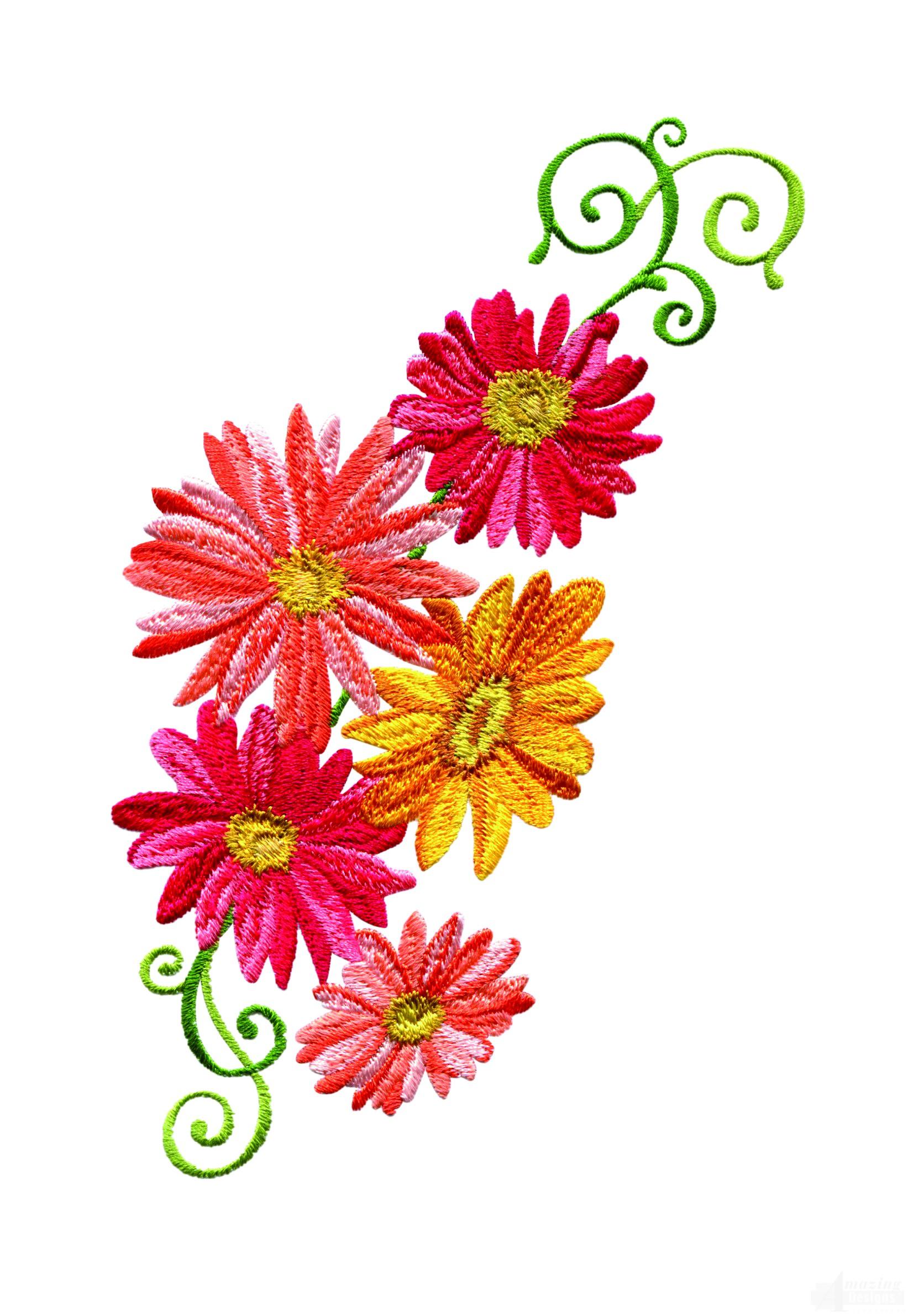 delightful daisy 13 embroidery design