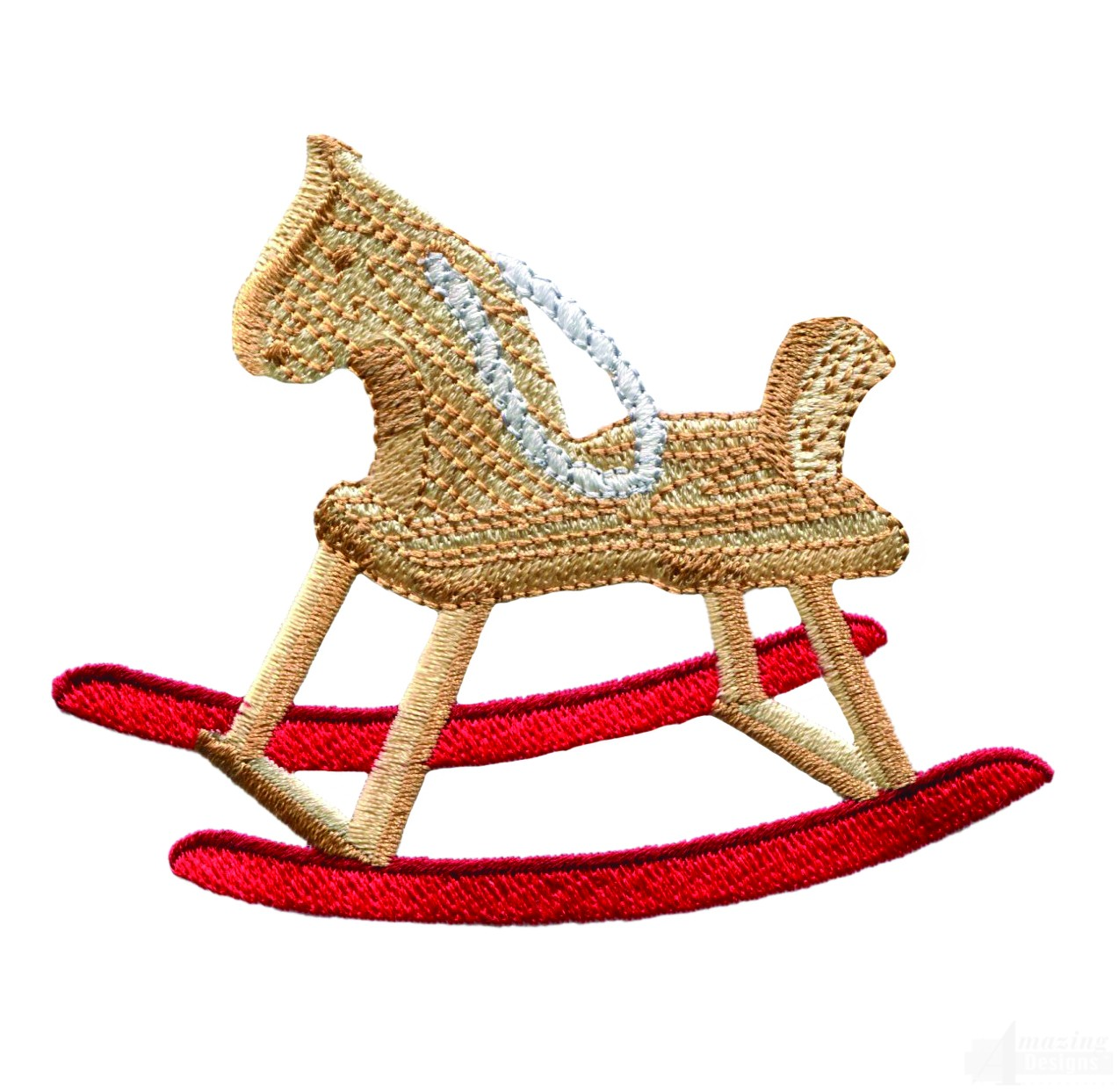 Rocking Horse Embroidery Design Image Mag