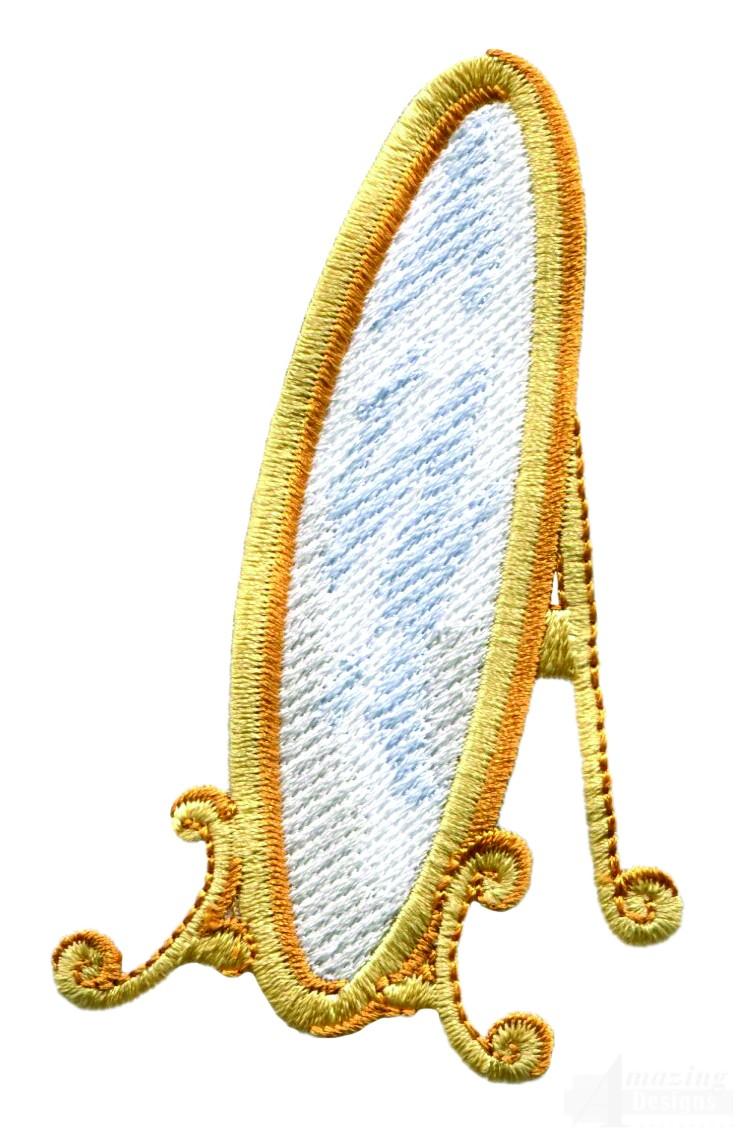 Swnbear mirror embroidery design