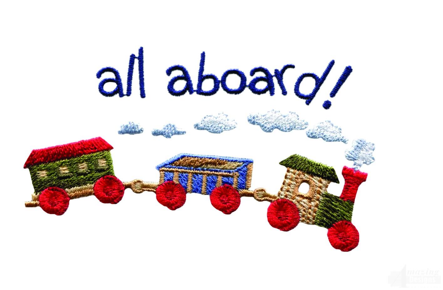 Swnbear130 Toy Train Embroidery Design