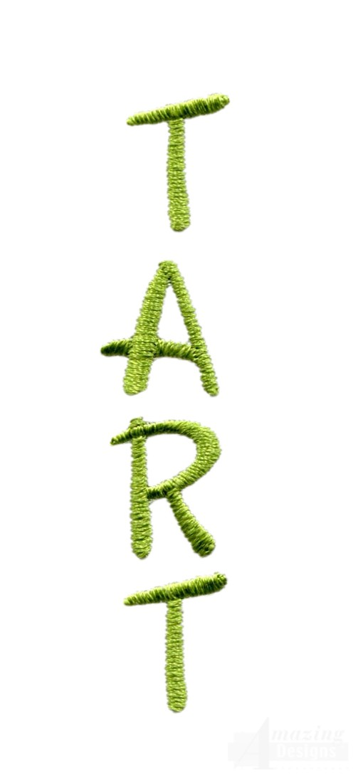 Tart word embroidery design
