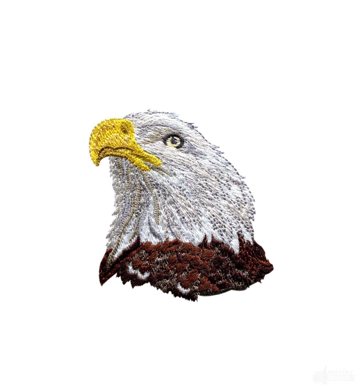 Bald Eagle Head 1 Embroidery Design