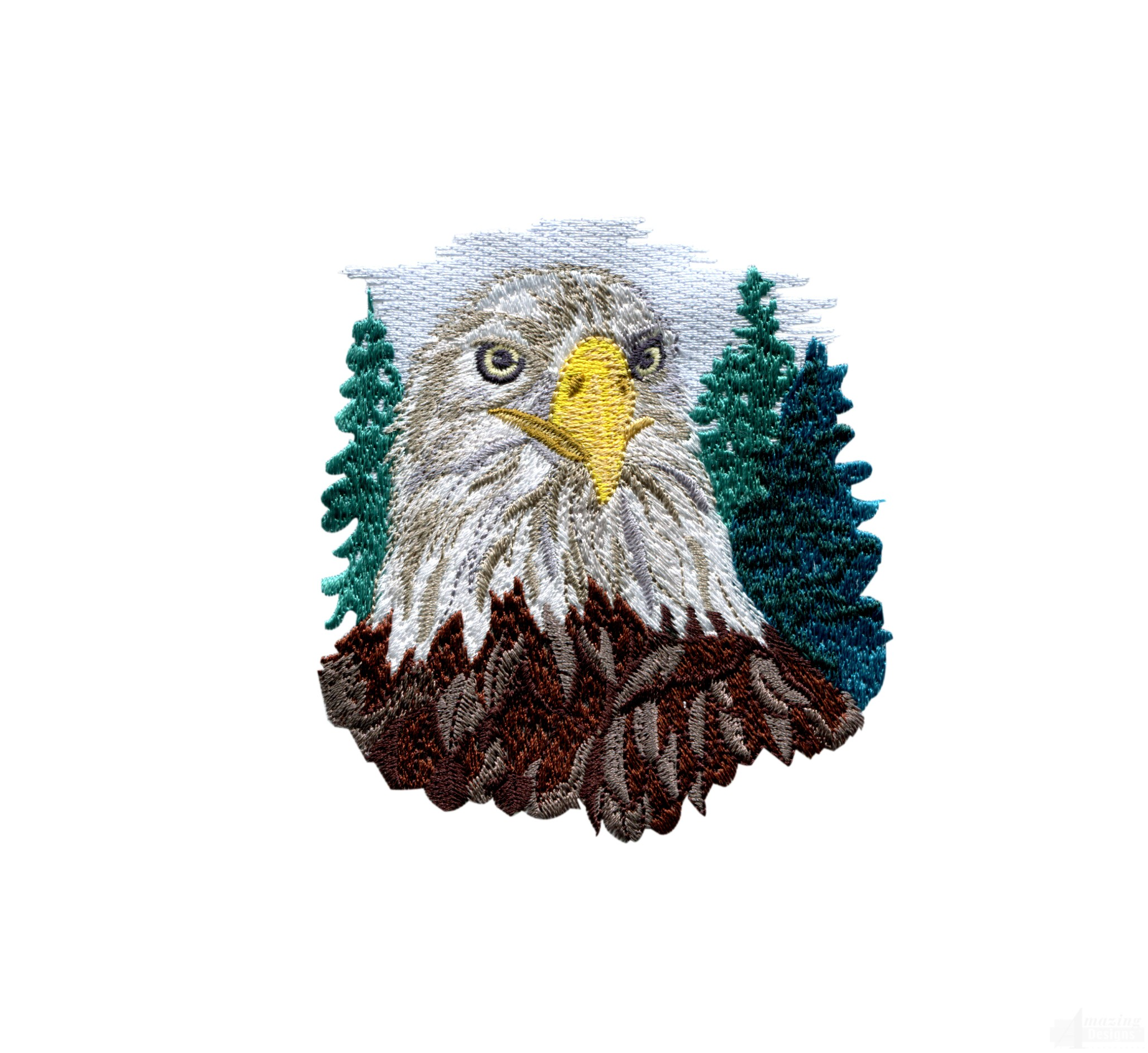 Bald Eagle Head 2 Embroidery Design