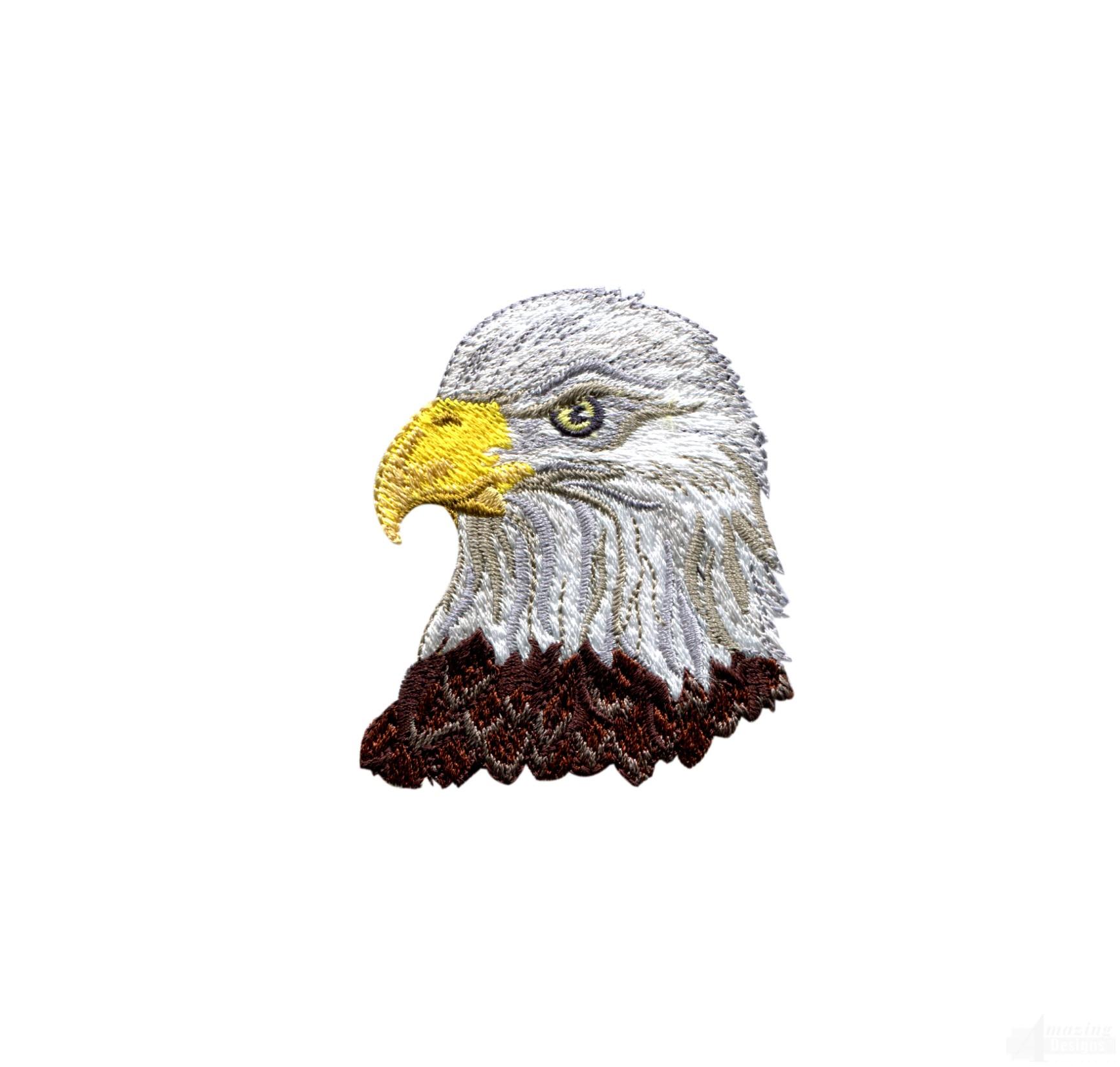 Bald Eagle Head 3 Embroidery Design