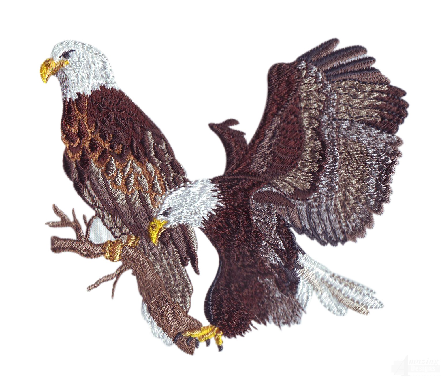 Eagle Pair Embroidery Design