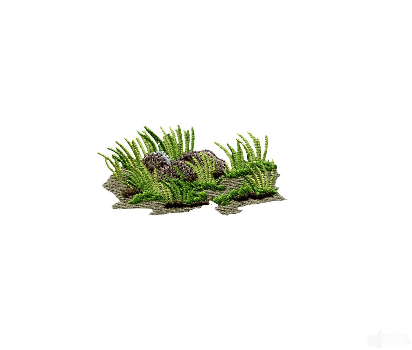 grass 2 embroidery design