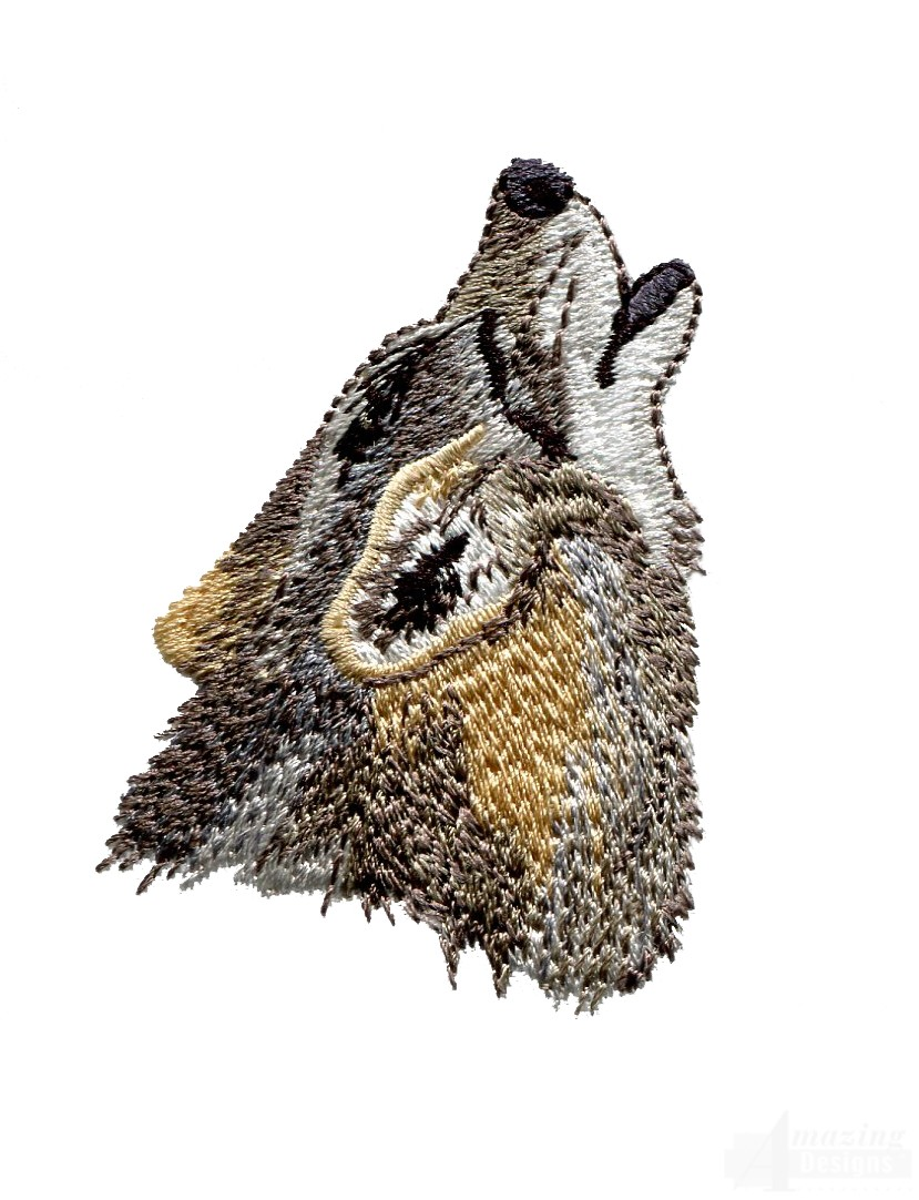 Swnmw114 Howling Wolf Embroidery Design