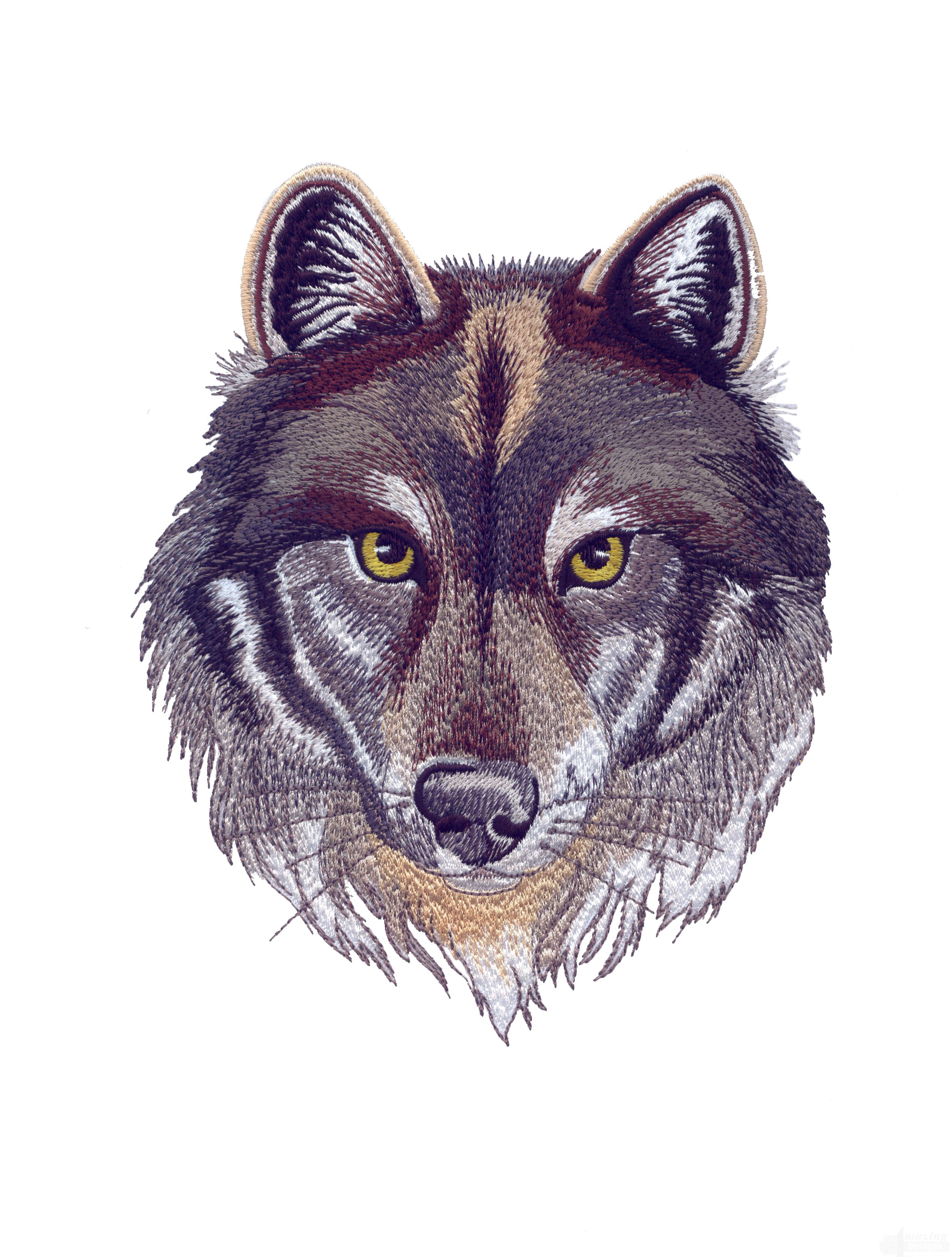 Swnmw124 Wolf Embroidery Design