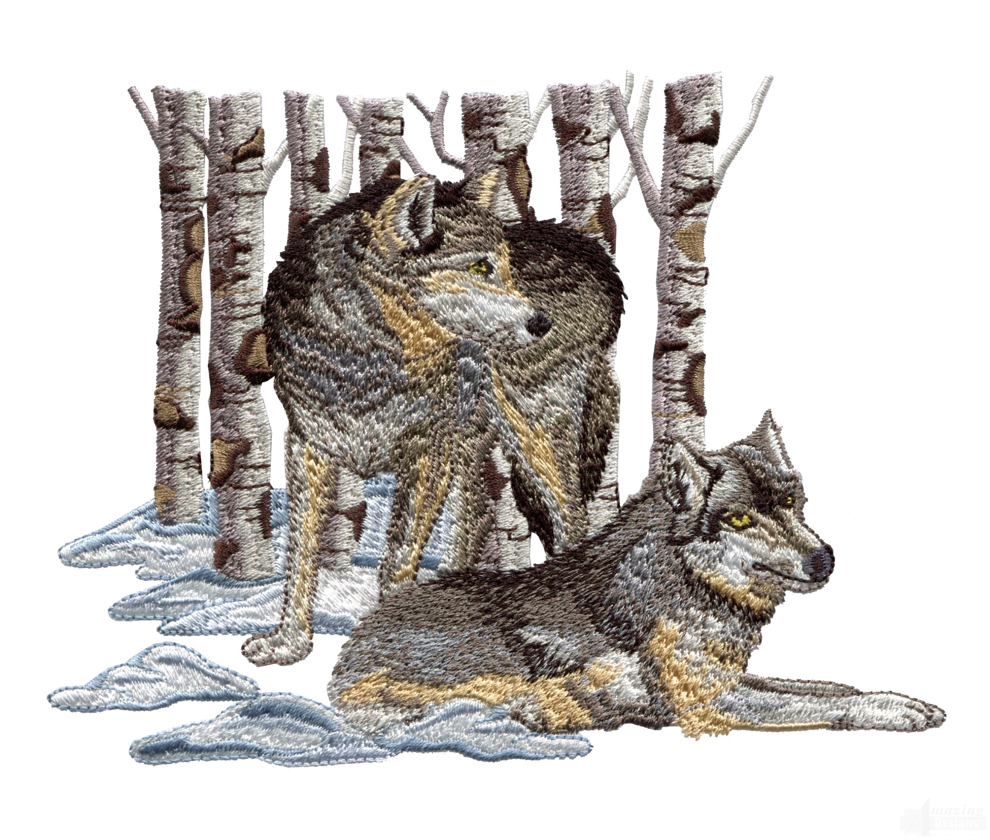 Swnmw128 Wolf Embroidery Design