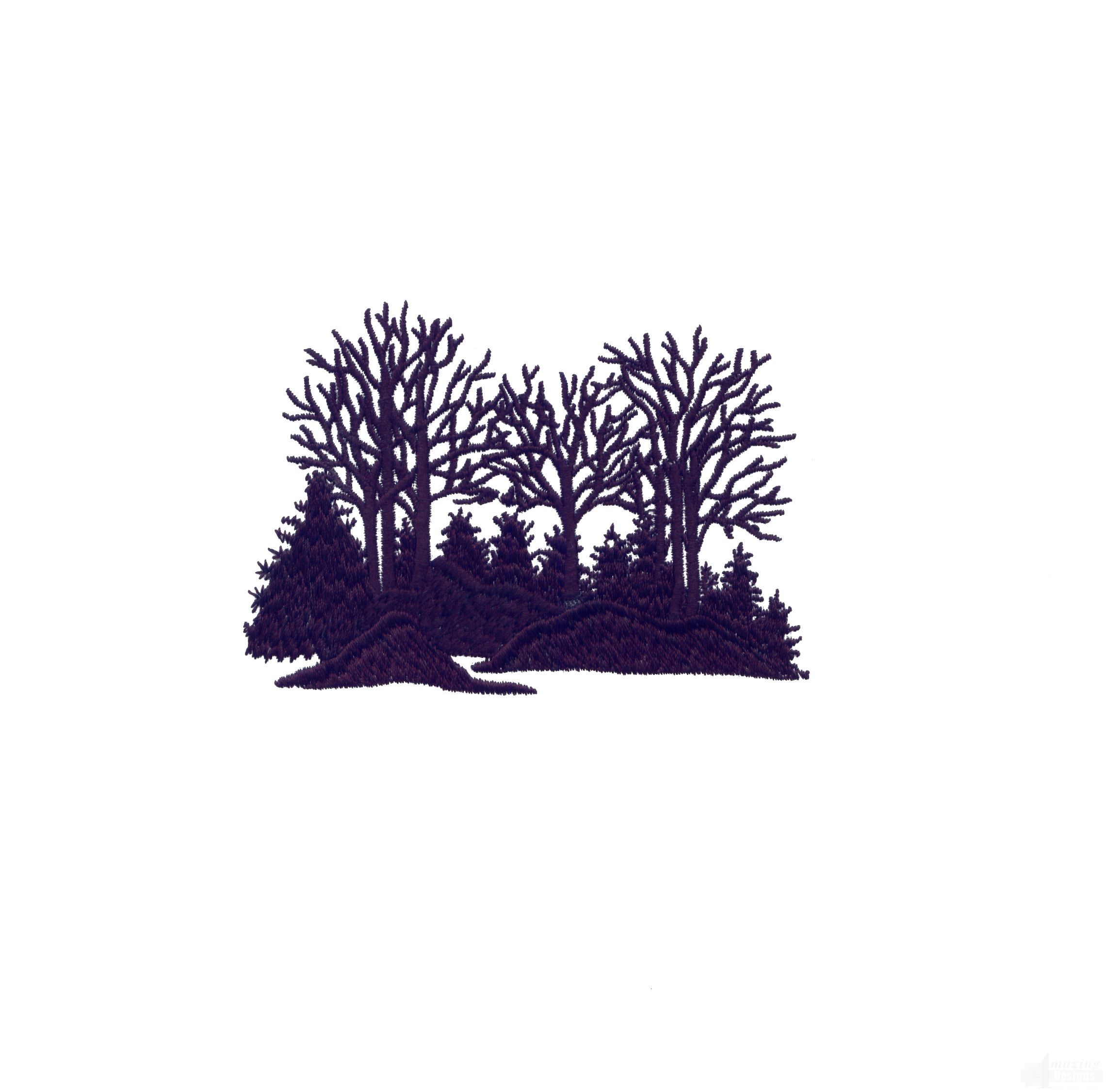 swnmw140 silhouette woods embroidery design