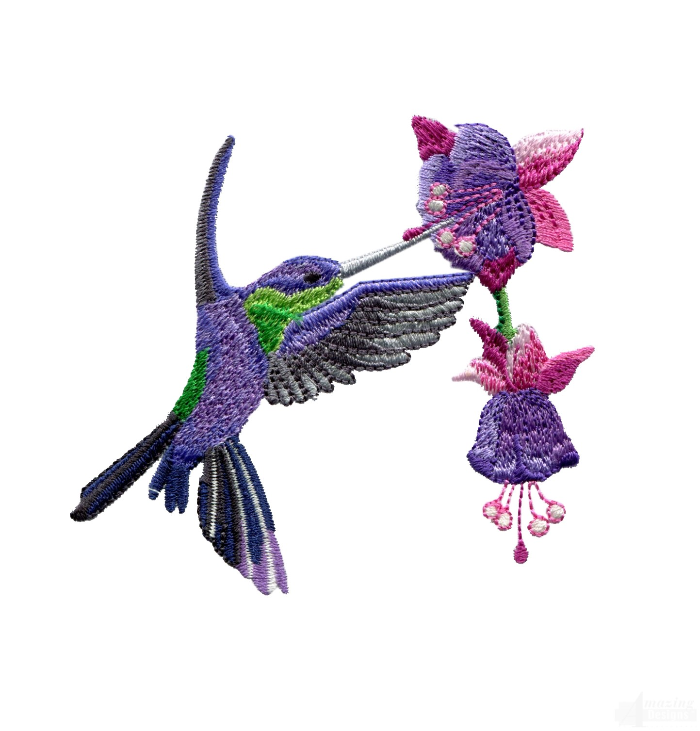 Swnhe144 Hummingbird Enchantment Embroidery Design