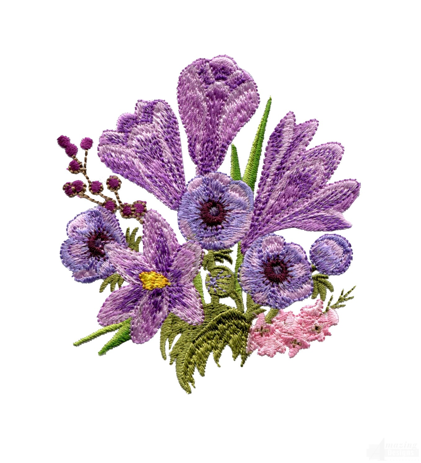 Swnfl flourishing flowers embroidery design