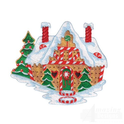 Gingerbread house for Gingerbread house plans