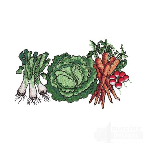 Garden vegetables for Garden embroidery designs