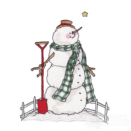 snowman shovel coloring pages - photo#11