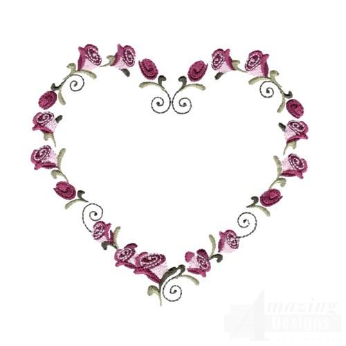 rose heart frame 2