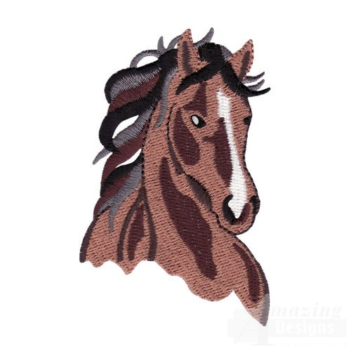 Machine Embroidery Designs Of Realistic Horse Heads Car Tuning