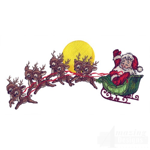 flying santa new calendar template site