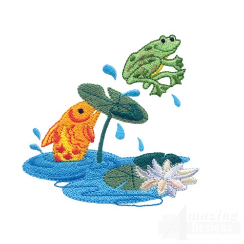 top 5 frogs fishing embroidery machine
