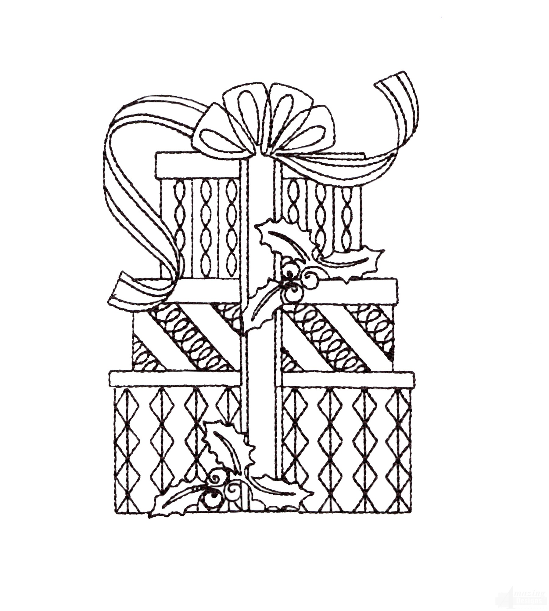 Swncqo311 Quilting Outline Embroidery Design