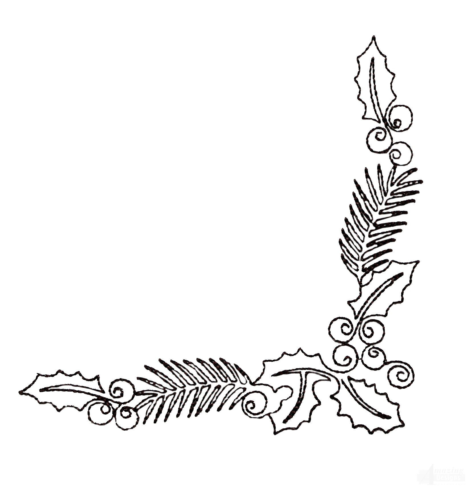 Swncqo quilting outline embroidery design