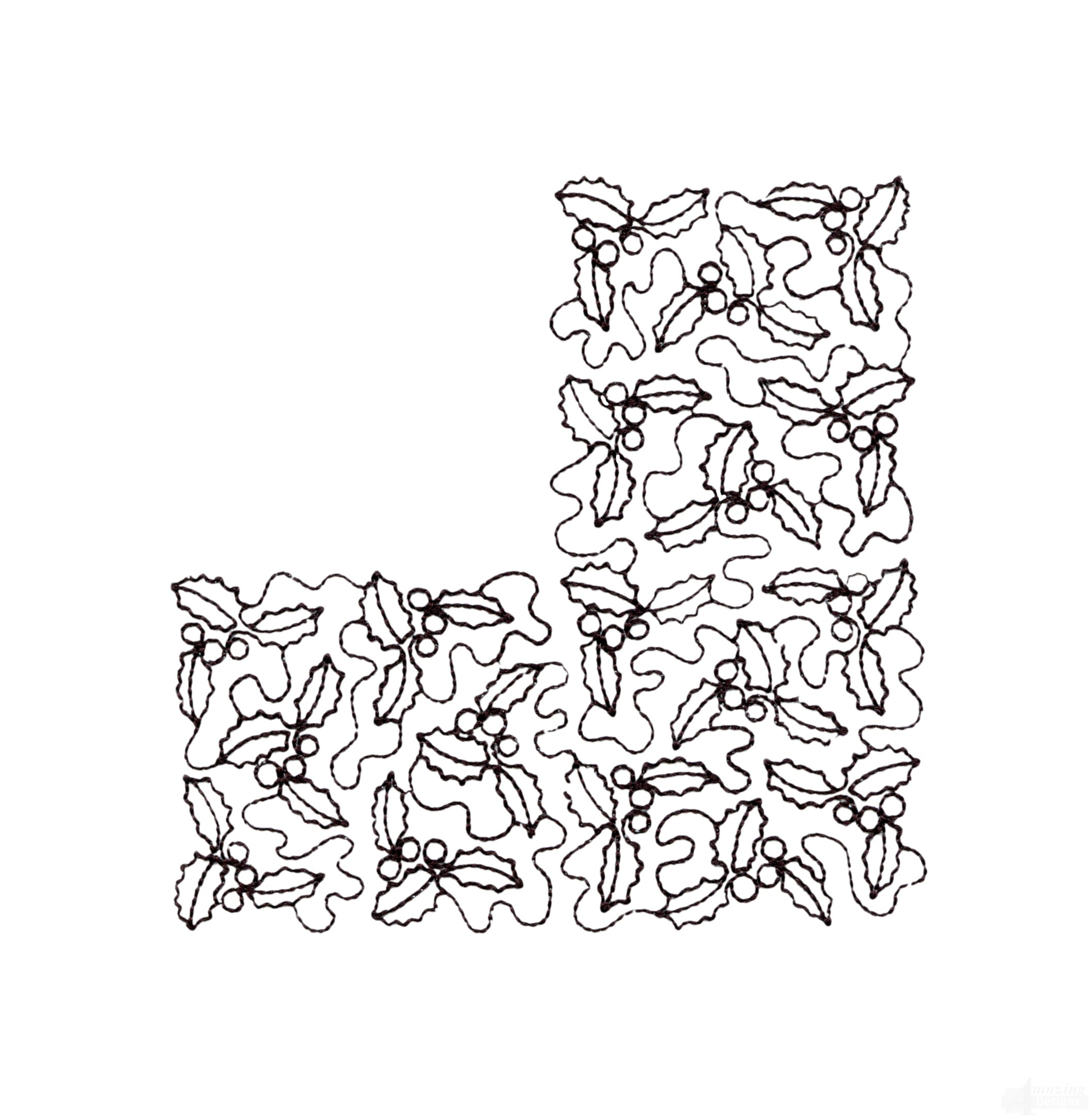 Swncqo337 Quilting Outline Embroidery Design