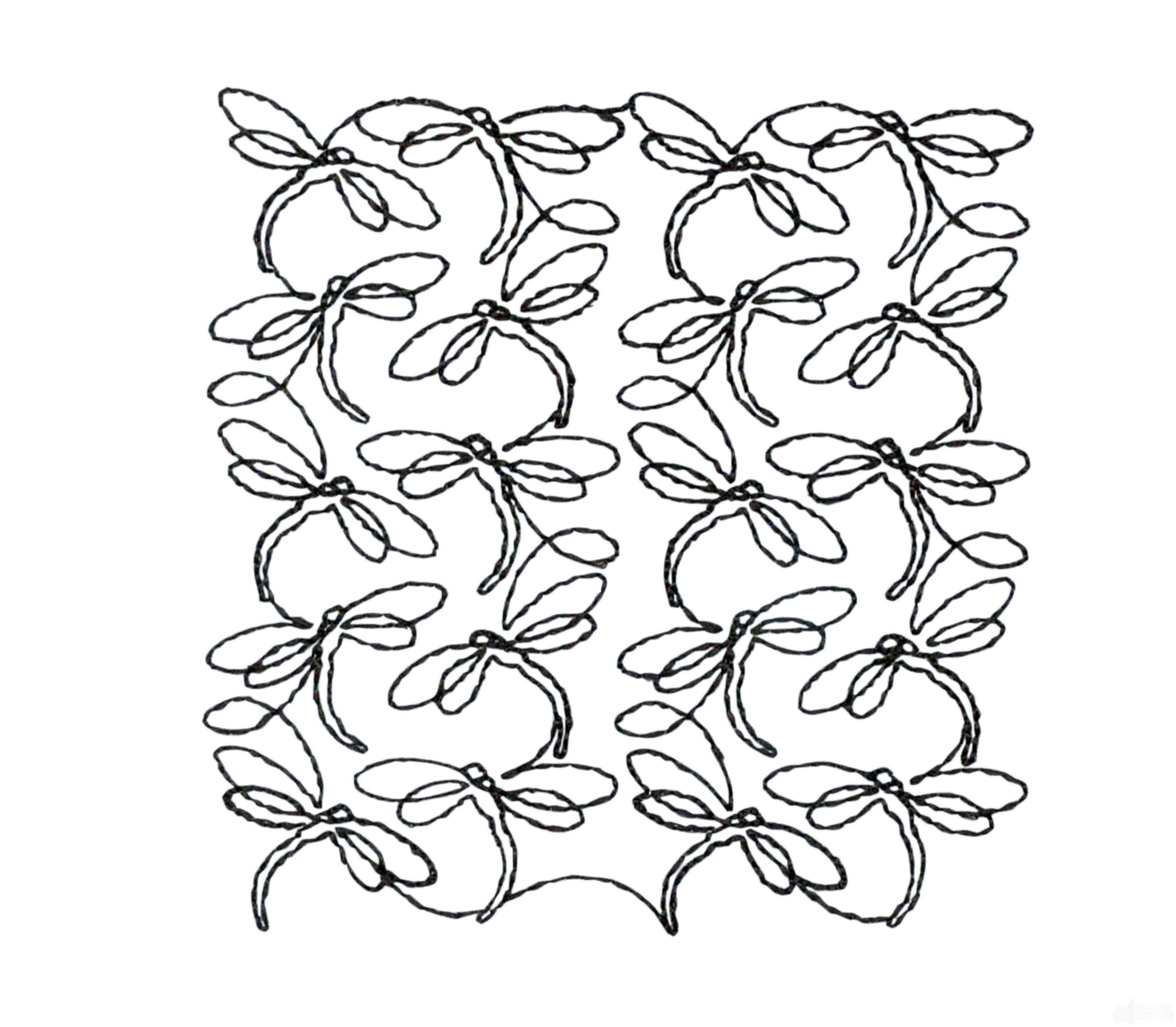 Quilting Outline Embroidery Designs : Creative Quilting Outlines Flora and Fauna Embroidery Design