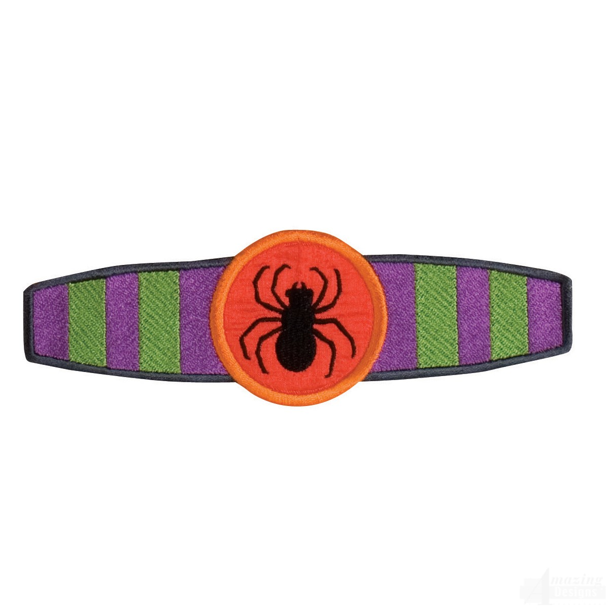 Halloween napkin ring embroidery design