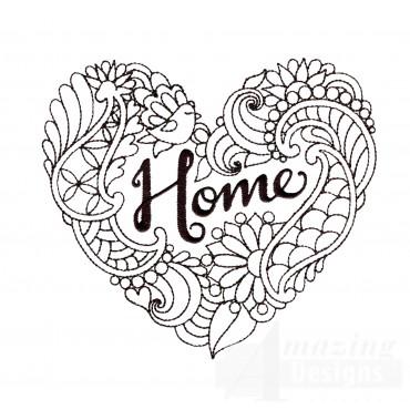 Home Heartfelt Doodle Embroidery Design