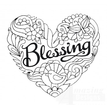 Blessing Embroidery Design