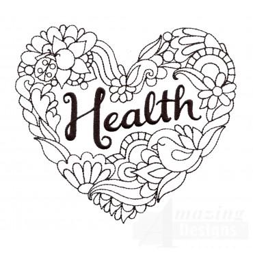 Health Embroidery Design