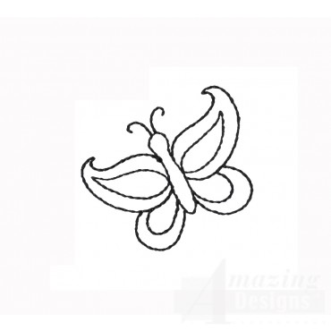 Butterfly Doodle Embroidery Design
