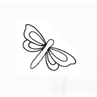 Dragonfly Doodle Embroidery Design