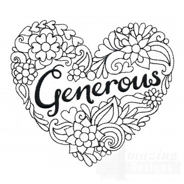 Generous Heartfelt Doodle Embroidery Design