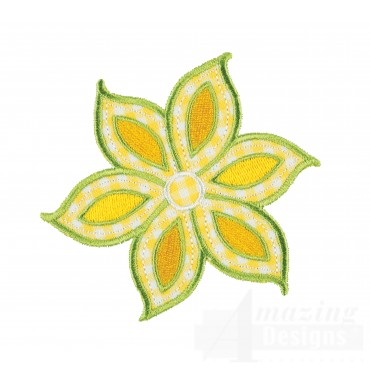 Flower Happy Day Applique Embroidery Design