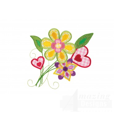 Flower Group 2 Applique Embroidery Design