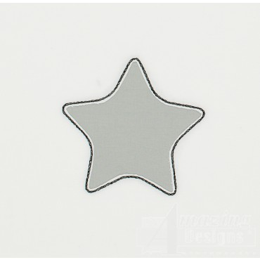 Star Reverse Applique Embroidery Design