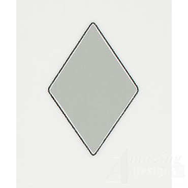 Diamond 3 Reverse Applique Embroidery Design